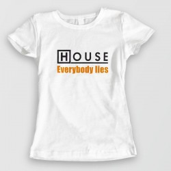 Tee shirt Dr House - everybody lies