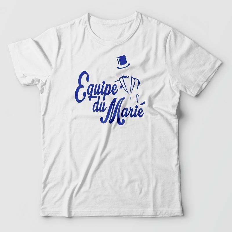 t-shirt - enterrement de vie de garcon - Equipe du marié