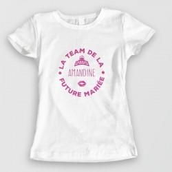 tshirt personnalisable - TEAM de la future mariée - EVJF