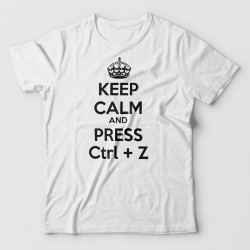 Tee shirt Keep calm and press Ctrl+Z