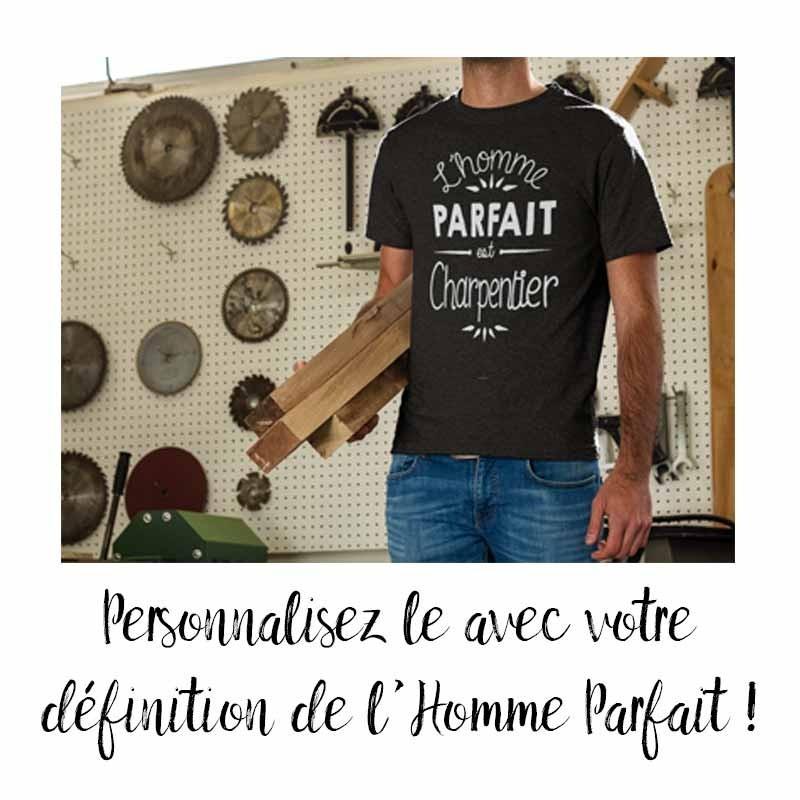 """le tshirt"""" L'homme parfait"""" personnalisable"""