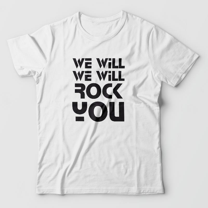 We will rock you- tee-shirt-queen