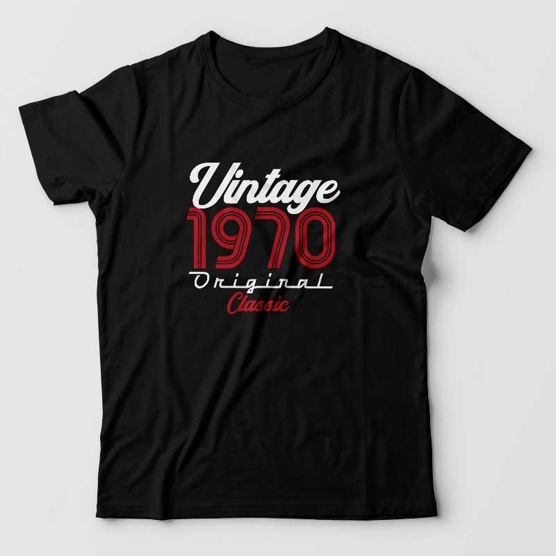 Vintage original classic - teshirt anniversaire personnalisable